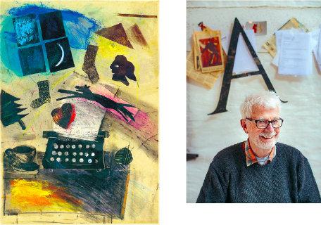 Till vänster: Bild av Christer Jonson till omslaget till boken Natten är min egen, Marit Paulsen, Gidlunds, 1984. Till höger: Christer Jonson i sitt hem på Gotland, fotograferad av Karl Melander i februari 2015.